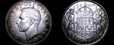 Buy 1950 Canadian Half Dollar 50 Cents Canada Silver World Coin
