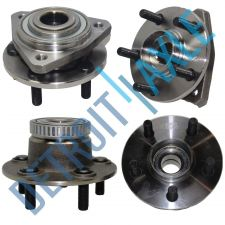 Buy 4 pc Kit - Set of 2 Front and 2 Rear Wheel Hub and Bearing Assembly w/ ABS