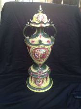 Buy Antique art nouveau Royal Blenheim Vase on stand 23 3.4 Inch High, Marked