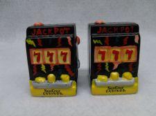 Buy Salt and Pepper Shakers Sun Cruz Casino Slot Machines Hand Painted Rare