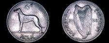 Buy 1935 Irish 6 Pence World Coin - Ireland - Wolfhound