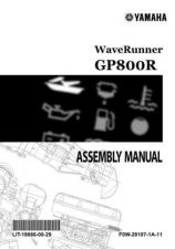 Buy Yamaha GP800R F0W-28107-1A-11 Waverunner Assembly Manual by download Mauritron #34409