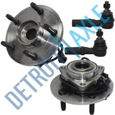 Buy 4 pc Kit - 2 Front Wheel Hub and Bearing Assembly 4-Wheel ABS + 2 Outer Tie Rod