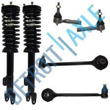 Buy 2 Front Ready Strut Assembly + 2 Lower Control Arm & Ball Joint + 2 Tie Rod RWD