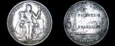 Buy 1965 French Polynesia 5 Franc World Coin