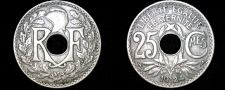Buy 1924 French 25 Centimes World Coin - France