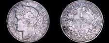 Buy 1888-A French 1 Franc World Silver Coin - France