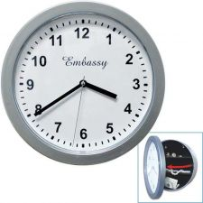 Buy Silver Wall Clock with Hidden Safe - 10 inches by 10 inches Compartment Security