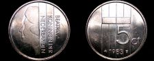 Buy 1983 Netherlands 5 Cent World Coin