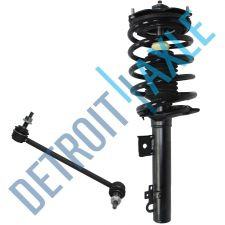 Buy 2 pc Set - NEW Front Driver Ready Strut Assembly + Sway Bar Link