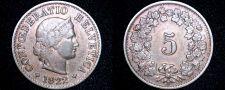 Buy 1922-B Swiss 5 Rappen World Coin - Switzerland
