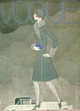 Buy Vogue 1928 Cover Print by Lepape Fashion Car Art Deco 1984 original print