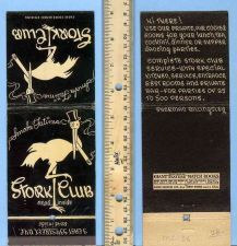 Buy New York New York City Giant Feature Matchcover Stork Club Black cover w/S~36