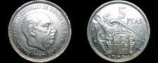 Buy 1957 (71) Spanish 5 Peseta World Coin - Spain Caudillo