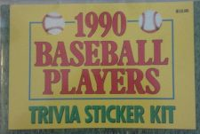 Buy Trivia Sticker Kit *COLLECTABLE* 1990 Season M.L.B. Players / See PICS