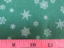 Buy Silver Snow Pattren,Christmas Tree Skirt,Green Cotton Fabric Fat Quarter x 50 cm