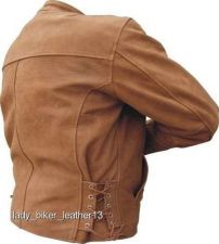 Buy MENS BIKER Brown BUFFALO Leather TRADITIONAL STYLE Motorcycle Jacket