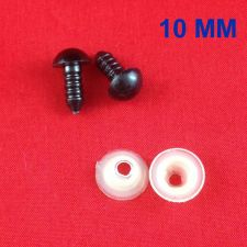 Buy 10MM BLACK PLASTIC SAFETY EYES FOR MAKING BEAR SOFT TOYS ANIMAL DOLL CRAFT DIY