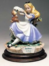 Buy Alice in Wonderland & Cat Disney Capodimonte C.O.A. Italy Original Box