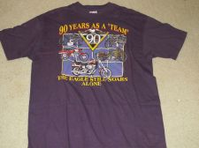 Buy Harley Davidson Purple Shirt - The Eagle Still Soars Alone -Size X-Large