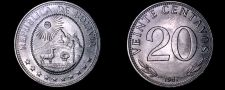 Buy 1967 Bolivian 20 Centavo World Coin - Bolivia