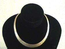 Buy NEW CLASSY Ladies Fan Necklace. Layered Gold .SALE ENDS TODAY