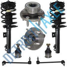 Buy 2 Front Ready Strut Assembly + 2 Wheel Hub Bearing + 2 Sway Bar + 2 Ball Joint