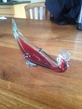 Buy Vintage Italian Murano Mid Century Art Stretch Glass Center Piece Bowl - gondola