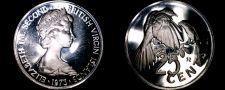 Buy 1973 British Virgin Islands 25 Cent Proof World Coin - Mangrave Cuckoo