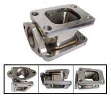 Buy T3-T3 STAINLESS STEEL 304 TURBO MANIFOLD ADAPTER+38MM WASTEGATE FLANGE OUTLET