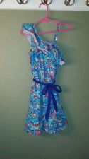 Buy Children's Place Girls Blue Floral Knee-Length Everday Summer Dress Size S 5/6