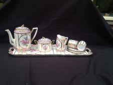 Buy Antique porcelain MOKKA TETE A TETE marked NEU-MEISSEN + NO 50