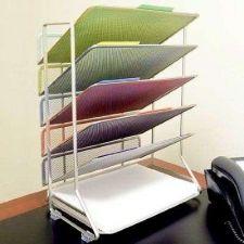 Buy Trays Mesh Holder Files Office Desk Wall Organizer Letter Documents Folders New