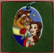 Buy Disney Beauty & Beast Porcelain Ornament MIB Never Sold