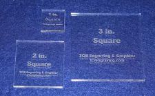 "Buy 3 Piece Square Set 1"", 2"", 3"" ~1/4"" Clear Acrylic - Quilting Templates- No seam"