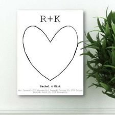 Buy Our Story Guestbook Keepsake Canvas - Free Personalization