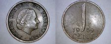 Buy 1969 Netherlands 1 Cent World Coin - Fish
