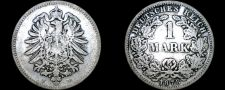 Buy 1878 F German Empire 1 Mark World Silver Coin - Germany