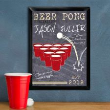 Buy Beer Pong Traditional Sign - Free Personalization