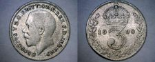 Buy 1920 Great Britain 3 Pence World Silver Coin - UK