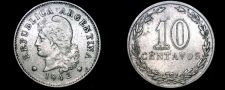 Buy 1942 Argentina 10 Centavo World Coin