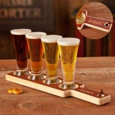 Buy Beer Flight Paddle and Glasses - Free Personalization