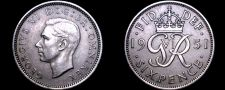 Buy 1951 Great Britain 6 Pence World Coin - UK - England