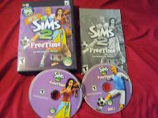 Buy Sims 2 FREE TIME PC DISCS MANUAL ART & CASE NEAR MINT TO VERY GOOD HAS CODE