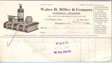 Buy New York Binghamton Letterhead / Billhead Walter R. Miller & Company 170 W~67