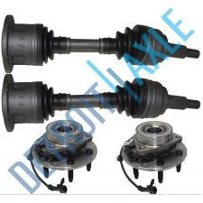 Buy Front Driver and Passenger CV Axle Shafts+ 2 Wheel Hub and Bearing Assembly 6lug