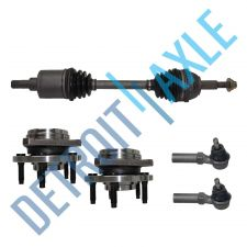 Buy Front Driver CV Axle Shaft + 2 NEW Tie Rod + 2 NEW Wheel Hub Bearing Assembly