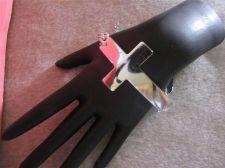 "Buy Womens Silver tone or Copper tone Cross bracelets.....8"" to 11"" # 88"