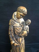 Buy antique woodcarving : Figure Statue Saint Antonius St. Anthony