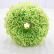 Buy GREEN DONUT HAIR TIE SCRUNCHY NEW HEAD WEAR VELVETY LOOP TIE CUTE FOR WOMAN.